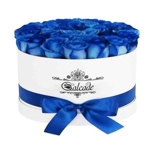 باکس گل رز آبی