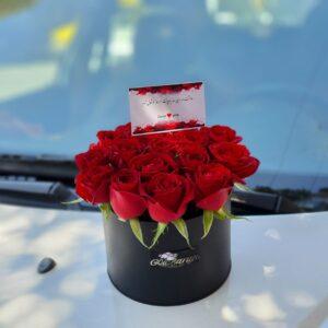 باکس گل رز استوانه ( ۱۷ شاخه )