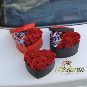 باکس های گل و شکلات قلب شکل