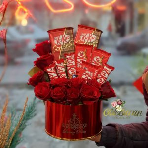 باکس گل رویایی قرمز
